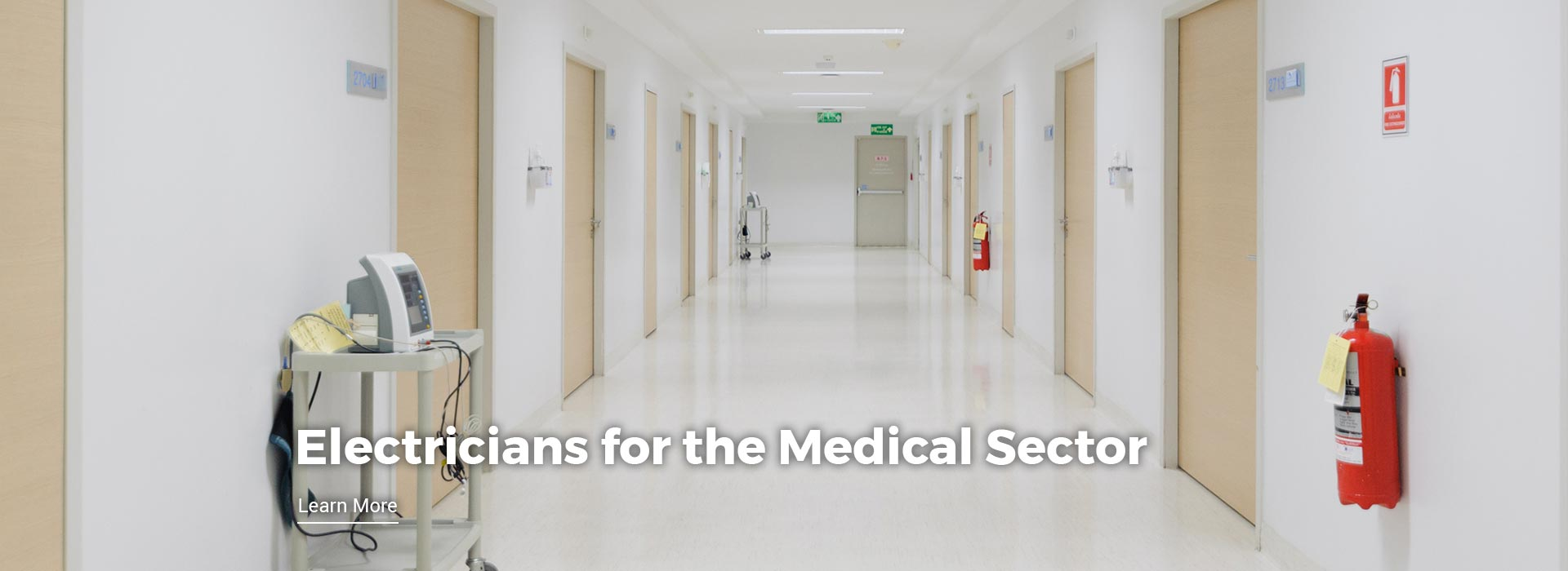 Electricians specialising in the medical sector. Learn More